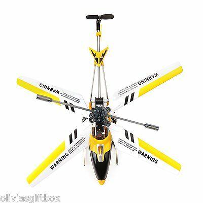 Remote Control RC Yellow Helicopter Gyro Beginner Easy Fly Toy Outdoor Metal