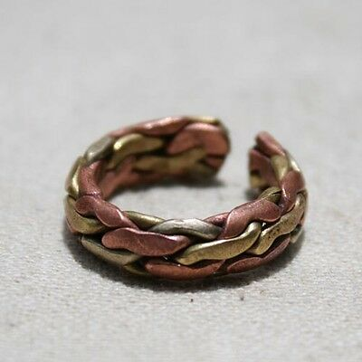 VTG handmade Three color 100% copper open ring NEPAL womens mens adjustable ring