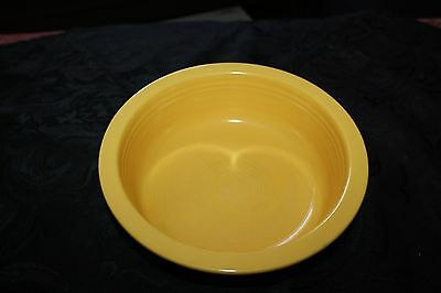 Vintage Fiesta Ware FiestaWare nappy bowl Yellow big bowl 8.5