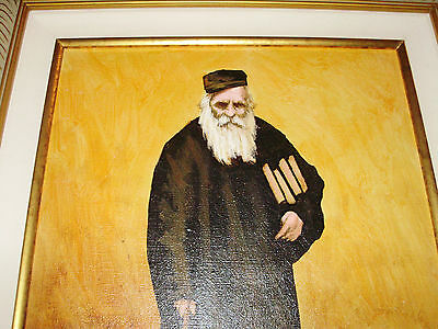 Oil painting of a Rabbi after Study. Beautifully Framed & Signed