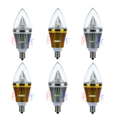 6x E12 Base 6W Dimmable Sharp High Power LED Chandelier Candle Light Bulb