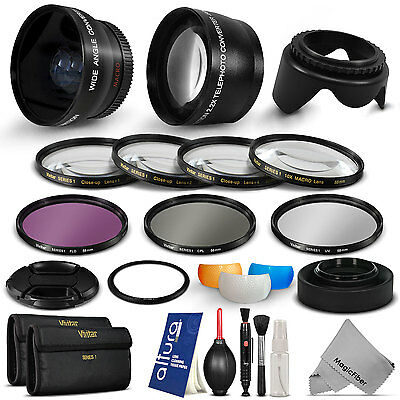 Accessory Kit & Wide Angle Telephoto Lens for Canon PowerShot SX60 SX50 HS