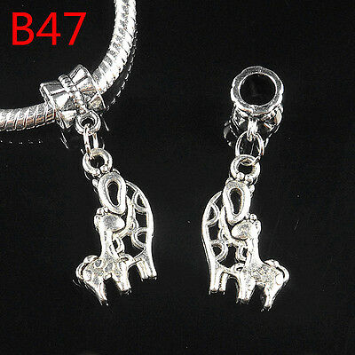 10pcs Charms Tibetan silver Giraffe mother and son Beads Fit Charms Bracelet B47
