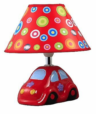 New Red Car Baby Table Lamp