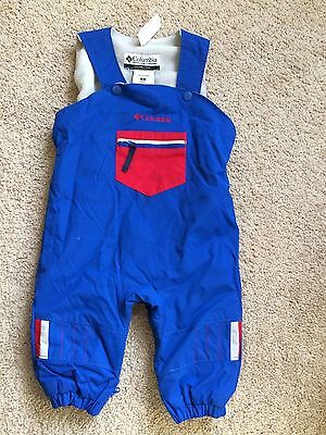 Columbia snowsuit bib snow pants boys size 12 months 12M overalls insulated ski