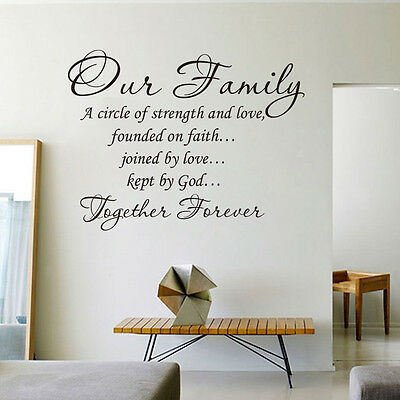 Our Family A Circle Of Love Wall Quote decal Removable stickers Vinyl Art Decor