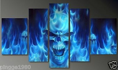5PC MODERN ABSTRACT HUGE WALL ART OIL PAINTING ON CANVAS(no framed) P085