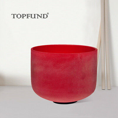 Red C Root Chakra Frosted Quartz Crystal Singing Bowl 8 inch+Mallet+O-ring