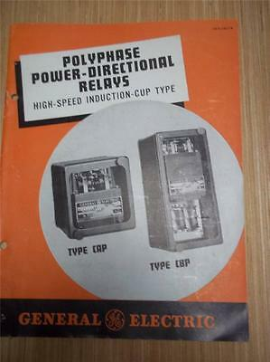 Vtg GE General Electric Catalog~Polyphase Power-Directional Relays CAP CBP~1941