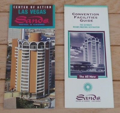 SANDS Las Vegas CASINO Hotel  - LOT of 2 BROCHURES - Property and Convention