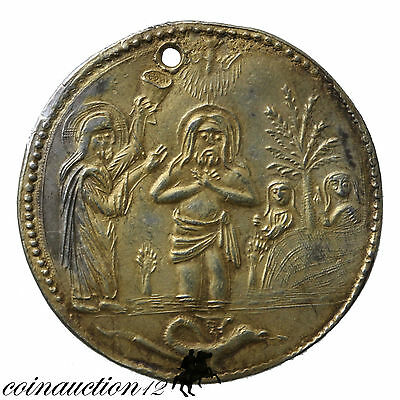 Scarce Late Byzantine Early Venetian Rule Silver & Gilt Christian Medallion