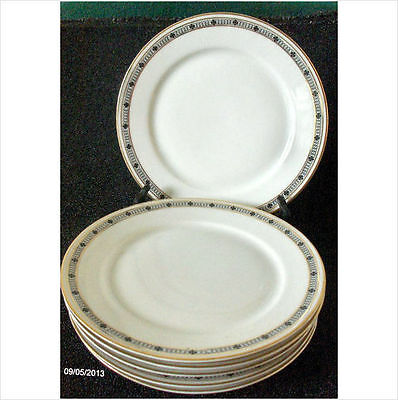 "Vintage PMR Bavaria Jaeger & Co Set of 6 Bread and Butter plates 6 1/4"" c.1945"