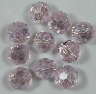 100Pcs Crystal Pink AB Faceted Round Glass Beads Jewelry Findings DIY 4MM