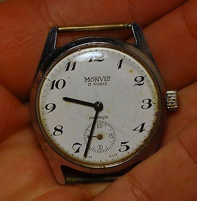 Vintage MONVIS swiss made watch 17 jewels working condition