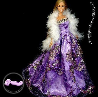 New Princess Clothes Dress Gown for Barbie Doll #175