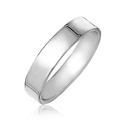 Handmade SOLID 925 Sterling Silver Flat Wedding Band, Thumb Ring 4mm Size H to Z