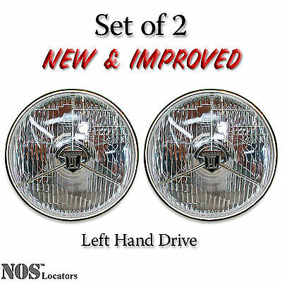Lucas PL700 7'' Halogen Headlights Set of 2 with bulbs - NEW & IMPROVED - SALE