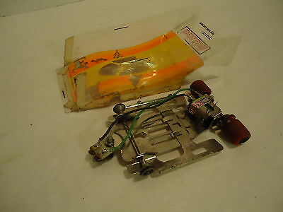 "1/24 ORANGE & YELLOW CAN AM LEXAN,4.0"" W/B CHASSIS WITH BALANCED PARMA MOTOR"