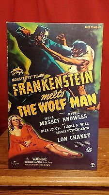 SIDESHOW UNIVERSAL MONSTERS 12 INCH FRANKENSTEIN MEETS THE WOLFMAN MIB