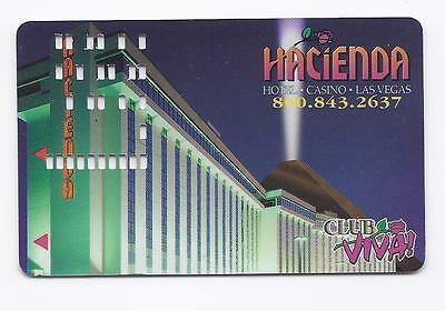 SLOT CARD / Players Club Card  HACIENDA Casino LAS VEGAS - 10 am to 6 pm - BLANK