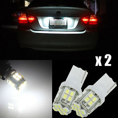 2x 24smd 360°Bright White T10 168 194 2825 LED Bulbs For License Plate Light G-F