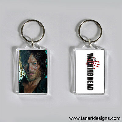 THE WALKING DEAD - NORMAN REEDUS - DARYL DIXON - PHOTO KEYCHAIN
