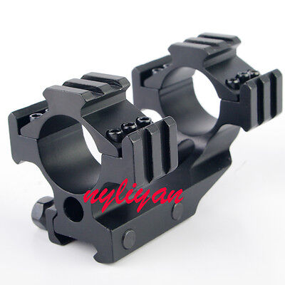 1Pcs Tri Side 30mm/25.4mm Cantilever Scope Mount 20mm Picatinny /Weaver Rail