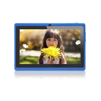 """8GB 7"""" Tablet PC Quad Core A33 Google Android 4.4 Capacitive WiFi Dual Cam NEW"""
