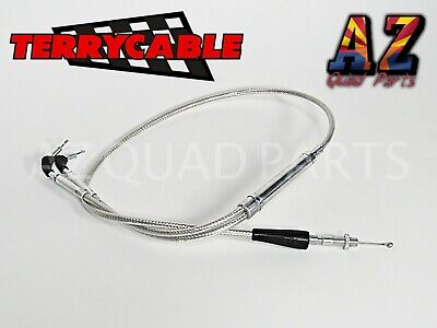 Banshee 350 Terry Steel Braided Dual Thumb Throttle Cable PWK PJ Carbs 28-39mm