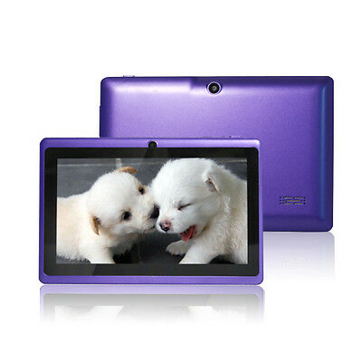 """7"""" Google Android 4.2 Capacitive Tablet PC Dual Core 1.5GHz 16GB A23 WIFI Purple"""