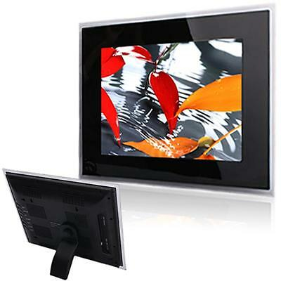 """New 15"""" Digital Photo Frame Multimedia TFT Screen with Remote Control Black"""