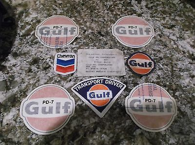Gulf Oil Patches And Decals