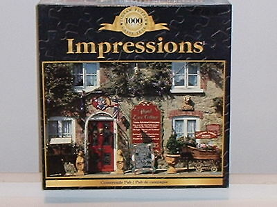 NEW Challenging 1000 piece Impressions Countryside Pub Jigsaw Puzzle
