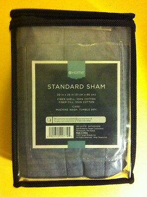 Target Home Standard 100% Cotton Sham 20 x 26 inch NEW FREE SHIPPING