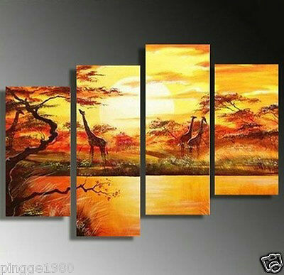 Modern Abstract Huge Wall Art Oil Painting On Canvas 4pcs(NO frame)P017