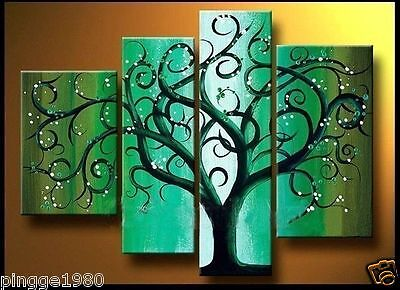 Modern Abstract Huge Art Oil Painting Canvas Large Tree (no framed) P089