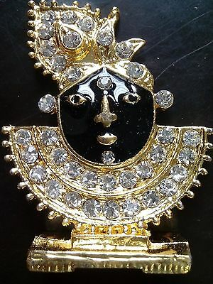 JAGANATH Sculpture With Real DIAMONDS Fine Statue for worship & Art & FREE GIFT