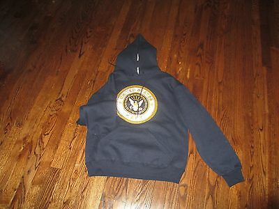 USN, US NAVY  hoody, pt sweatshirt us made,large,front print only