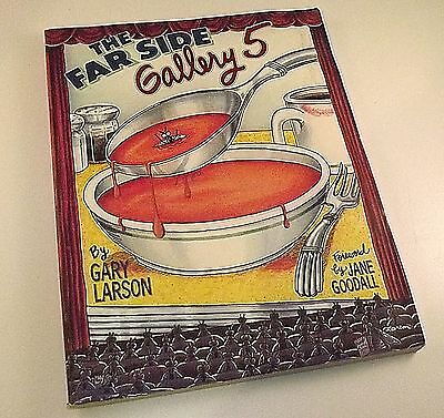 The Far Side Gallery 5 by Gary Larson 1995 forward by Jane Goodall (soft cover)