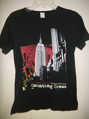 counting crows 2008 tour shirt small black saturday nights & sunday mornings