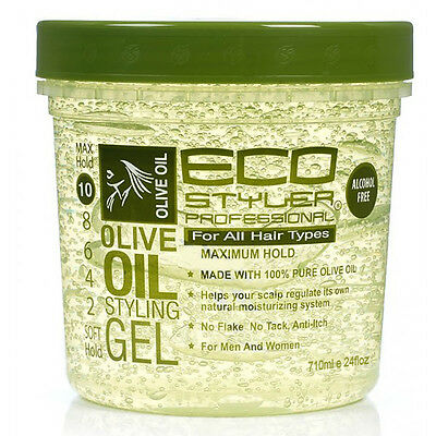 ECO Professional Olive Oil Styling Gel Maximum Hold For All Hair Types 24oz