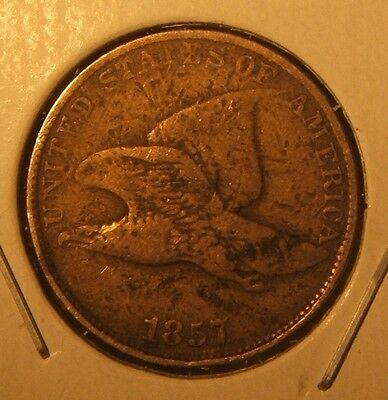 1857 Flying Eagle Cent~~Vf~~Tough Date