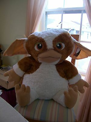 """HUGE 30"""" Vtg 1980s Gremlins Gizmo Plush Pillow Stuffed Animal Toy NWT Toy Factor"""