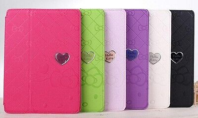 For Apple ipad6 ipad Air2  Hello Kitty PU Leather Smart Cover Stand Case