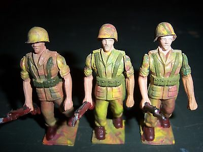 AOHNA ATHENA/ PALToy soldiers 1960-70s Rare-- made in Greece--Lot of 3 near mint