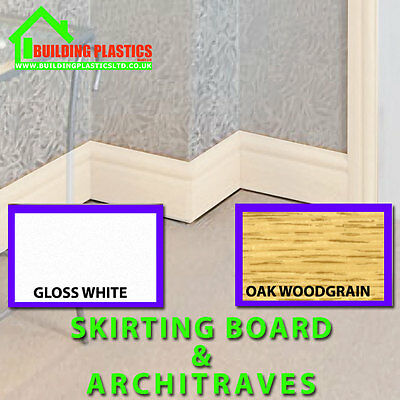 Plastic Skirting Boards And Door Architraves Various Colours And Sizes
