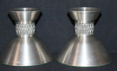 Mastad Pewter Made in Norway Pattern 101 Lot of 2 (two) candlestick holders