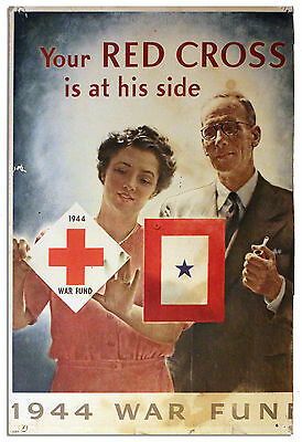 Your Red Cross is at His Side 1944 Original Poster