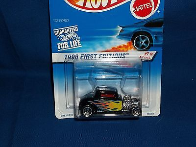 Hot Wheels 1998 First Editions #7 '32 Ford Carded