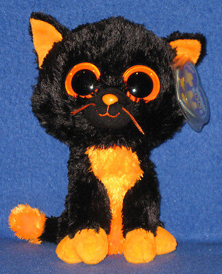 TY BEANIE BOOS BOO'S - MOONLIGHT the CAT- MINT with NEAR MINT TAGS (PURPLE TAG)